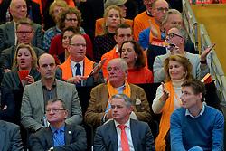 11–01-2020 NED: Semi Final Olympic qualification tournament women Germany - Netherlands, Apeldoorn<br /> First semi final match Germany - Netherlands 3-0 / VIP tribune, Bas van de Goor, Peter Sprenger, Aleksandar Boricic