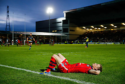 after Worcester score a converted try with the last play of the game to draw the match 30-30 and win by 1 point over the two legs to deny Bristol promotion to the Aviva Premiership - Photo mandatory by-line: Rogan Thomson/JMP - 07966 386802 - 27/05/2015 - SPORT - Rugby Union - Worcester, England - Sixways Stadium - Worcester Warriors v Bristol Rugby - Greene King IPA Championship Play-Off Final 2nd Leg.