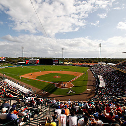 March 5, 2011; Lake Buena Vista, FL, USA; A general view during a spring training exhibition game between the New York Mets and the Atlanta Braves at Disney Wide World of Sports complex. Mandatory Credit: Derick E. Hingle-US PRESSWIRE