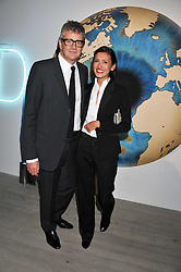 JAY JOPLING and HIKARI YOKOYAMA at Arts for Human Rights gala dinner in aid of The Bianca Jagger Human Rights Foundation in association with Swarovski held at Phillips de Pury & Company, Howick Place, London on 13th October 2011.