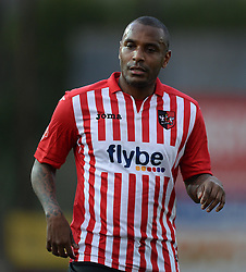 Exeter City's Clinton Morrison - Photo mandatory by-line: Alex James/JMP - Mobile: 07966 386802 - 10/01/2015 - SPORT - football - Exeter - St James Park - Exeter City v Northampton - Sky Bet League Two