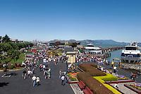 Fisherman's Wharf Summer Tourism Scene, San Francisco, California