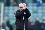 Bradford City manager Simon Grayson applauds, claps the away fans at full time after a 1-0 loss to Plymouth during the EFL Sky Bet League 1 match between Plymouth Argyle and Bradford City at Home Park, Plymouth, England on 24 February 2018. Picture by Graham Hunt.
