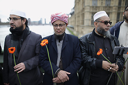 © Licensed to London News Pictures . 29/03/2017 . London , UK . A memorial event on Westminster Bridge , commemorating the lives of those killed in Khalid Masood's terrorist attack in Westminster that took place on 22nd March 2017 (one week ago) . Photo credit: Joel Goodman/LNP