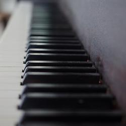 Piano Keyboard at Nana's House, Castine, Maine, US