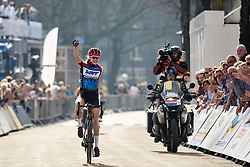 Aafke Soet (NED) wins Healthy Ageing Tour 2018 - Stage 5, a 94.3 km road race in Groningen on April 8, 2018. Photo by Sean Robinson/Velofocus.com