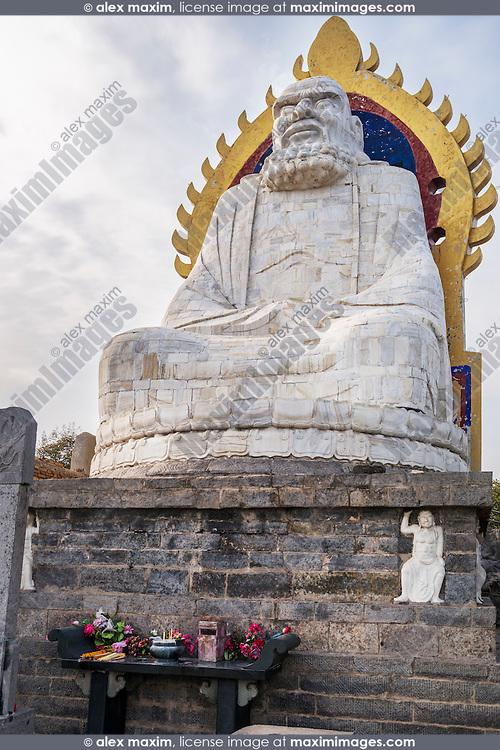 Bodhidharma statue on top of the mountain Song in DengFeng, Zhengzhou, Henan Province, China 2014