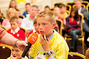 Connacht winner James Devaney St Patrick's National Calry, Sligo, at the Eason Spelling Bee in the Hotel Meyrick, Galway from where Ryan Tubridy's show was broadcast . Photo:Andrew Downes..