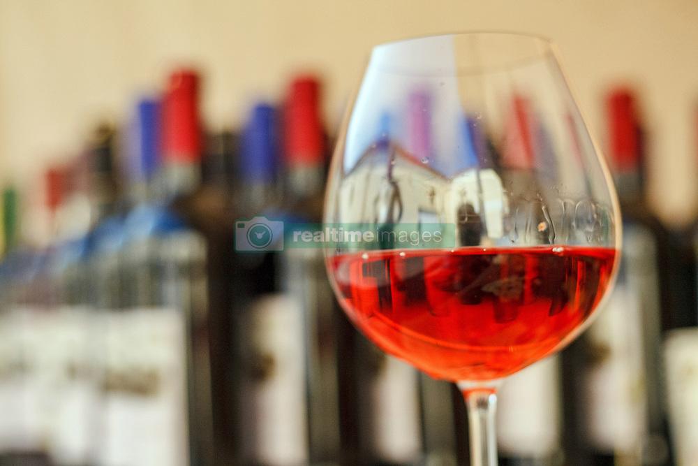 October 10, 2018 - Uzhhorod, Ukraine - A close-up photo of a glass of wine is taken on the sidelines of the Zakarpattia: Business at Heart of Europe Investment Forum in Uzhhorod, western Ukraine, October 10, 2018. Ukrinform. (Credit Image: © Serhiy Hudak/Ukrinform via ZUMA Wire)