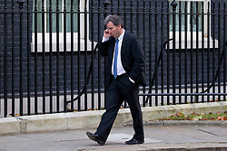 © Licensed to London News Pictures. 26/11/2013. London, UK. Oliver Letwin, Minister for Government Policy, arrives for a meeting of British Prime Minister David Cameron's Cabinet on Downing Street in London today (26/11/2013). Photo credit: Matt Cetti-Roberts/LNP
