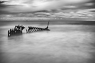Shipwreck of SS Dicky which ran aground in 1893. The beach, named Dicky Beach, is the only beach in the world named after a shipwreck.