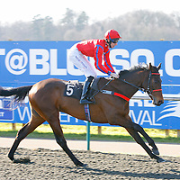 Rapid Heat Lad and George Baker winning the 1.45 race