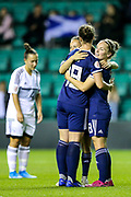 Kim Little (#8) of Scotland celebrates after scoring her fourth goal during the Women's Euro Qualifiers match between Scotland Women and Cyprus Women at Easter Road, Edinburgh, Scotland on 30 August 2019.