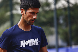 April 23, 2018 - Barcelona, Spain - BARCELONA, SPAIN - APRIL 23: Novak Djokovic from Serbia training during the Barcelona Open Banc Sabadell 66º Trofeo Conde de Godo at Reial Club Tenis Barcelona on 23 of April of 2018 in Barcelona. (Credit Image: © Xavier Bonilla/NurPhoto via ZUMA Press)
