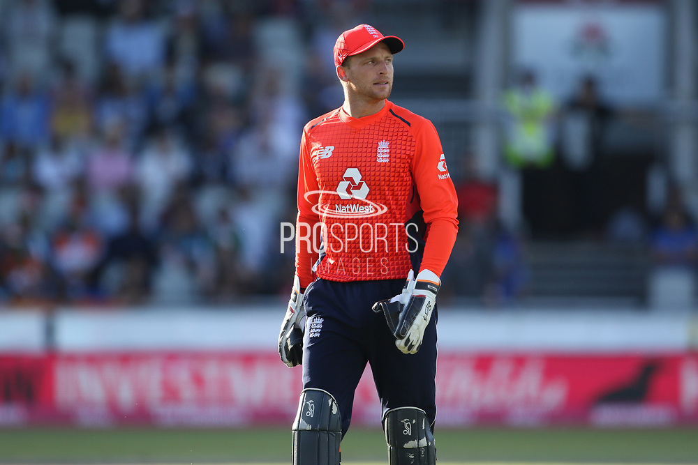 Jos Buttler (WK) during the International T20 match between England and India at Old Trafford, Manchester, England on 3 July 2018. Picture by George Franks.