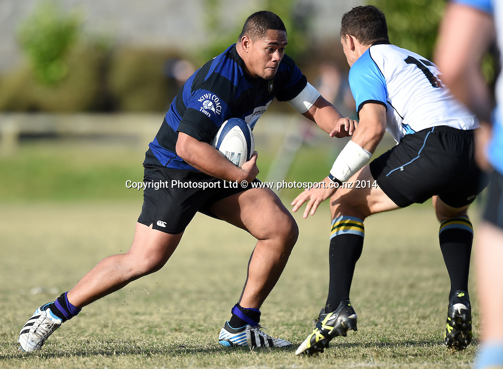 Ponsonby prop Steve Savali. Grammar TEC v Ponsonby. Auckland Premier Club Rugby. Alan McEvoy Memorial Shield. Auckland, New Zealand. Saturday 9 May 2015. Copyright Photo: Andrew Cornaga / www.Photosport.co.nz