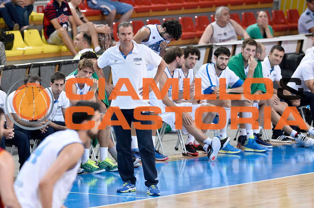 DESCRIZIONE : Skopje Nazionale Italia Uomini Torneo Internazionale di Skopje Italia Macedonia Italy FYROM<br /> GIOCATORE : Simone Pianigiani<br /> CATEGORIA : Delusione<br /> SQUADRA : Italia Italy<br /> EVENTO : Trofeo Internazionale di Skopje<br /> GARA : Italia Macedonia Italy FYROM<br /> DATA : 26/07/2014<br /> SPORT : Pallacanestro<br /> AUTORE : Agenzia Ciamillo-Castoria/GiulioCiamillo<br /> Galleria : FIP Nazionali 2014<br /> Fotonotizia : Skopje Nazionale Italia Uomini Torneo Internazionale di Skopje Italia Macedonia Italy FYROM