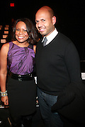 l to r: Teri Agins and Emil Welbkin at The Arise Fashion Show featuring the designs of Black Coffee, Loin Clothe & Ashes, and Deola Sagoe at The Tents for Fashion Week on February 13, 2010 in New York City. Photo Credit: Terrence Jennings/Retna, Ltd