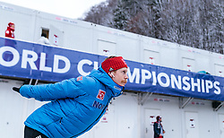19.01.2018, Heini Klopfer Skiflugschanze, Oberstdorf, GER, FIS Skiflug Weltmeisterschaft, Einzelbewerb, im Bild Robert Johansson (NOR) // Robert Johansson of Norway during individual competition of the FIS Ski Flying World Championships at the Heini-Klopfer Skiflying Hill in Oberstdorf, Germany on 2018/01/19. EXPA Pictures © 2018, PhotoCredit: EXPA/ JFK