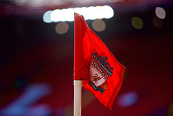 LIVERPOOL, ENGLAND - Saturday, February 9, 2019: The Liverpool corner flag pictured before the FA Premier League match between Liverpool FC and AFC Bournemouth at Anfield. (Pic by David Rawcliffe/Propaganda)