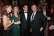 ALLIE ESIRI; MELANIE SHERWOOD; JAMES SHERWOOD; MIKE SHERWOOD, The Secret Winter Gala in aid of Save the Children and sponsored by Bulgari. Guildhall. London. 26 November 2013