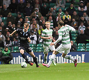 Dundee youngster Calvin Colquhoun goes past Celtic's Stefan Johansen -  Celtic v Dundee - SPFL Premiership at Celtic Park<br /> <br /> <br />  - © David Young - www.davidyoungphoto.co.uk - email: davidyoungphoto@gmail.com