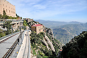funicular railway, Santa Maria de Montserrat Abbey, Catalonia, Spain