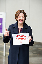 Pictured: ezia Dugdale<br /> <br /> Scottish Labour MSPs including leader Kezia Dugdale and Jackie Baillie gathered outside the Scottish Parliament in Edinburgh to mark Equal Pay Day, the day that women effectively stop earning relative to men for the year.  <br /> <br /> Ger Harley | EEm 10 November 2016