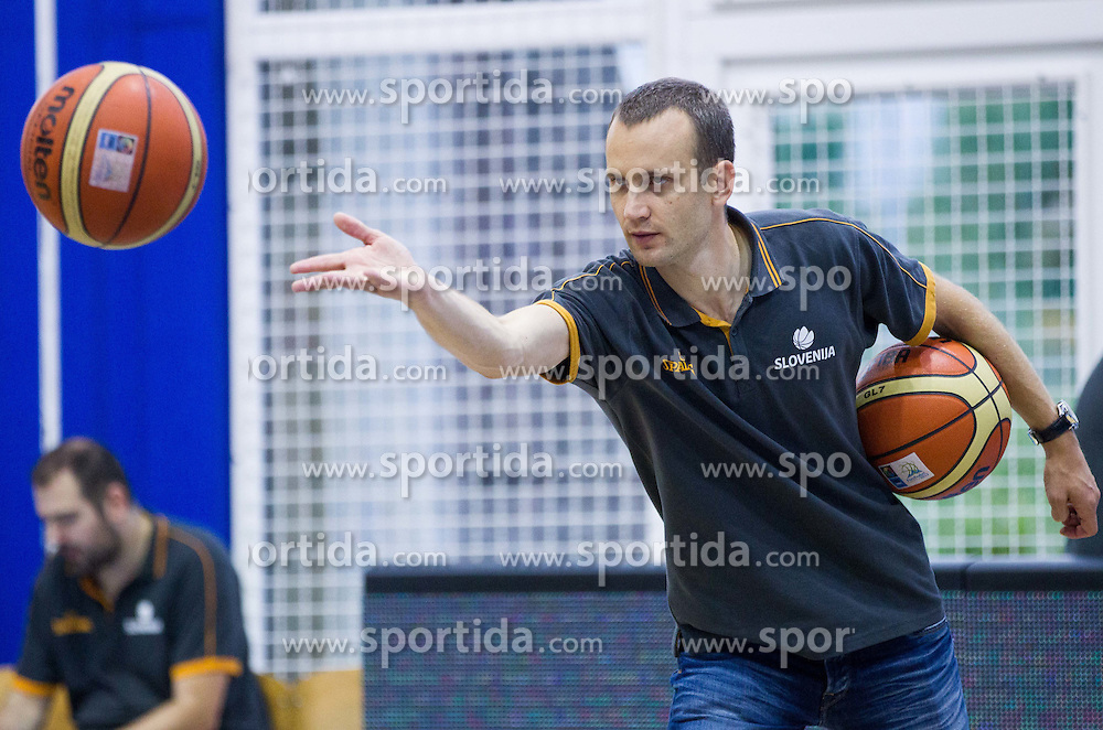 Gasper Potocnik, assistant coach of Slovenia during friendly basketball match between National teams of Slovenia and Ukraine at day 3 of Adecco Cup 2014, on July 26, 2014 in Rogaska Slatina, Slovenia. Photo by Vid Ponikvar / Sportida.com