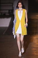 Katlin Aas walks the runway wearing Rag & Bone collection during Mercedes-Benz Fasion Week in New York on September 9, 2011