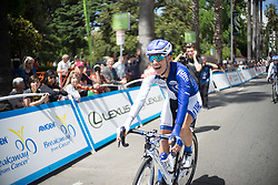 Iris Slappendel (NED) of UnitedHealthcare Cycling Team rides to the start of the fourth, 70 km road race stage of the Amgen Tour of California - a stage race in California, United States on May 22, 2016 in Sacramento, CA.