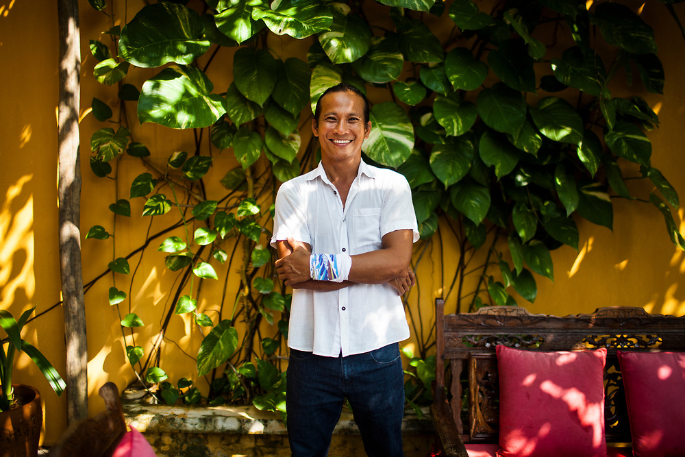 A portrait of Tran Thanh Duc, the chef-owner of Mai Fish in Hoi An, Vietnam.