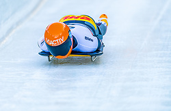 17.01.2020, Olympia Eiskanal, Innsbruck, AUT, BMW IBSF Weltcup Bob und Skeleton, Igls, Skeleton, Herren, 1. Lauf, im Bild Axel Jungk (GER) // Axel Jungk of Germany in action during his 1st run of men's Skeleton competition of BMW IBSF World Cup at the Olympia Eiskanal in Innsbruck, Austria on 2020/01/17. EXPA Pictures © 2020, PhotoCredit: EXPA/ Stefan Adelsberger