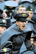 Army Cadet cheers during the Army-Navy Football game on Dec. 10, 2011.  (Alan Lessig/Staff)