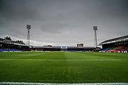 Roots Hall prepares for todays match under a moody sky during the EFL Sky Bet League 1 match between Southend United and Oxford United at Roots Hall, Southend, England on 6 October 2018.