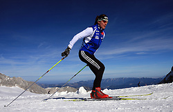 Petra Majdic at practice of Slovenian Cross country National team before new season 2008/2009, on October 22, 2008, glacier Dachstein, Ramsau, Austria. (Photo by Vid Ponikvar / Sportida).