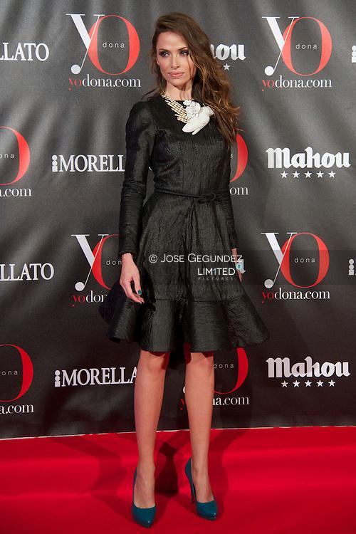 Almudena Fernandez attends 'Yo Dona' Magazine's Mask Party at Casino on 18 February, 2013 in Madrid