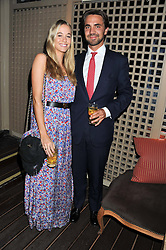 FLORENCE BRUDENELL-BRUCE and HENRY ST.GEORGE at a dinner hosted by Edward Taylor and Alexandra Meyers in association with Johnnie Walker Blue Label held at Mark's Club, 46 Charles Street, London W1 on 26th April 2012.