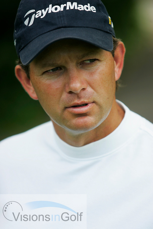 Retief Goosen, portrait session at Wentworth GC, June 2005<br /> <br /> Photo credit:  Mark Newcombe / visionsingolf.com