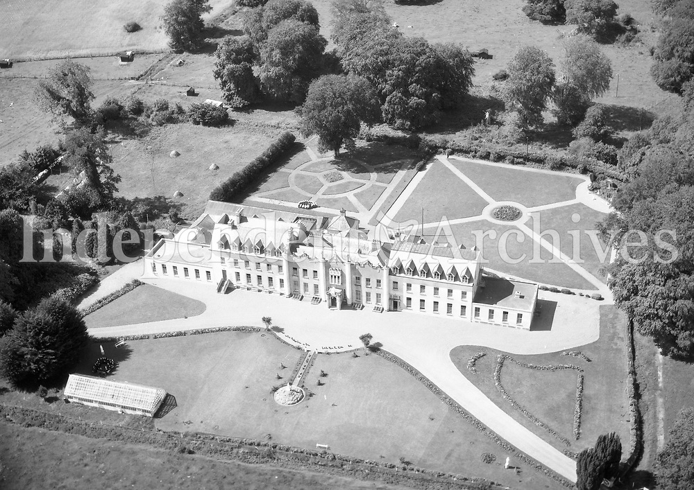 A208 Gallen Priory, Ferbane.   02/01/56. (Part of the Independent Newspapers Ireland/NLI collection.)<br /> <br /> <br /> These aerial views of Ireland from the Morgan Collection were taken during the mid-1950's, comprising medium and low altitude black-and-white birds-eye views of places and events, many of which were commissioned by clients. From 1951 to 1958 a different aerial picture was published each Friday in the Irish Independent in a series called, 'Views from the Air'.
