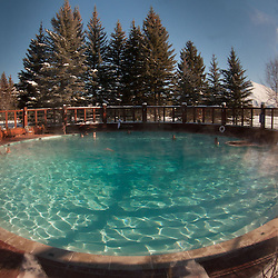 Sun Valley Inn Circular Swimming Pool, Sun Valley, Idaho, US