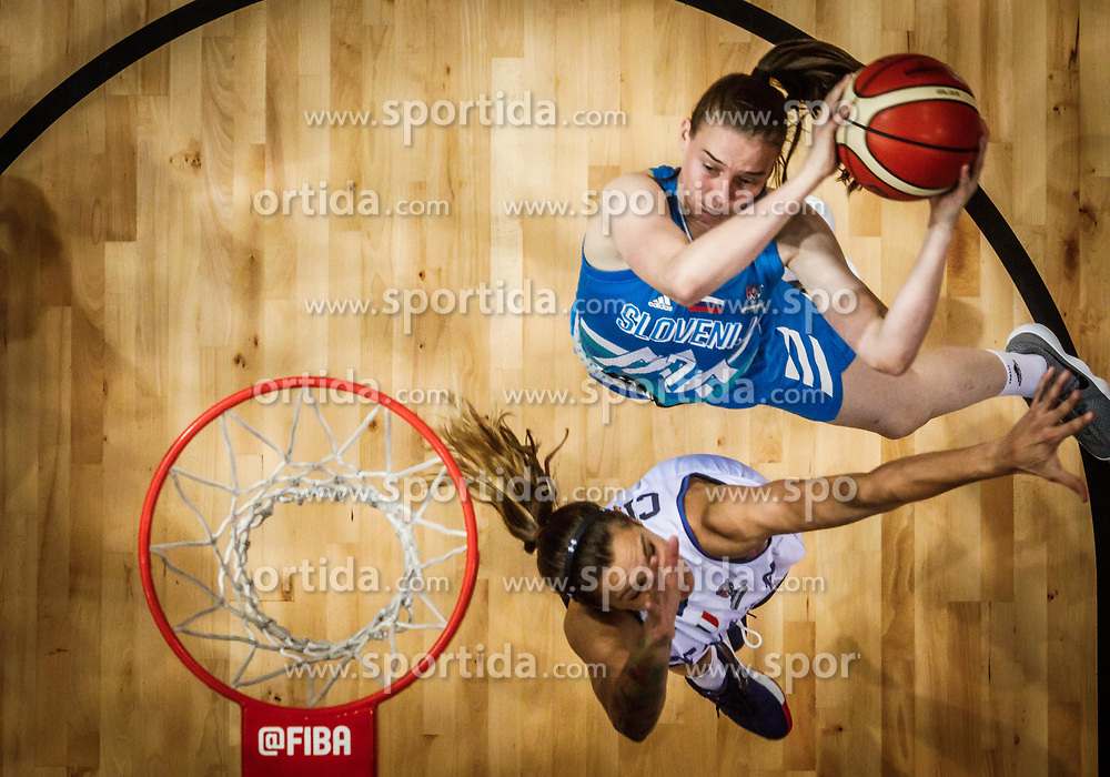 Marusa Senicar of Slovenia vs Sabrina Cinili of Italy during basketball match between Women National teams of Italy and Slovenia in Group phase of Women's Eurobasket 2019, on June 30, 2019 in Sports Center Cair, Nis, Serbia. Photo by Vid Ponikvar / Sportida