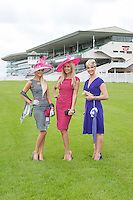 Rosanna Davison guest judge for this year?s Anthony Ryan?s Best Dressed Lady  at the launch of thecompetition to be held on the 2nd of August 2012  at the Galway Races with previous winners of the  Anthony Ryan?s Best Dressed Lady Jill Macken from Meath(2006) and Niamh O?Donovan ( 2003) from Gort Galway. Photo:Andrew Downes.