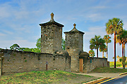 The old City Gates - in historic downtown St. Augustine, Florida