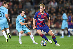 November 5, 2019, Barcelone, Espagne: FOOTBALL: FC Barcelone vs SK Slavia Praha - Champions League - 05/11/2019.Frankie De Jong. (Credit Image: © Panoramic via ZUMA Press)