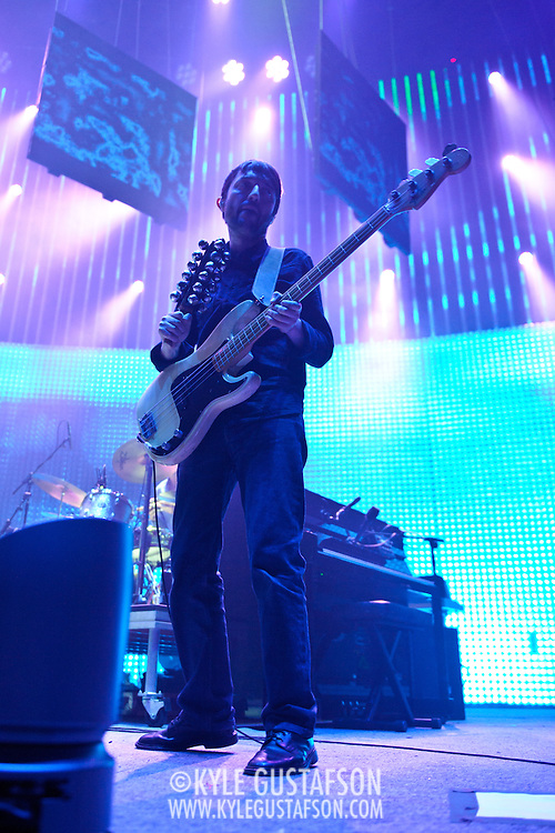 WASHINGTON, DC - June 3rd, 2012 - Colin Greenwood of Radiohead performs at the Verizon Center in Washington, D.C.  It was the first time the band performed in the metro-D.C. area since their infamous show in the rain at Nissan Pavilion in 2008. (Photo by Kyle Gustafson/For The Washington Post)