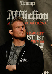 """June 3, 2009; New York, NY, USA; Josh Barnett at the press conference announcing his fight against Fedor Emelianenko at Affliction M-1 Global's """"Trilogy"""".  The two will meet on August 1, 2009 at the Honda Center in Anaheim, CA."""