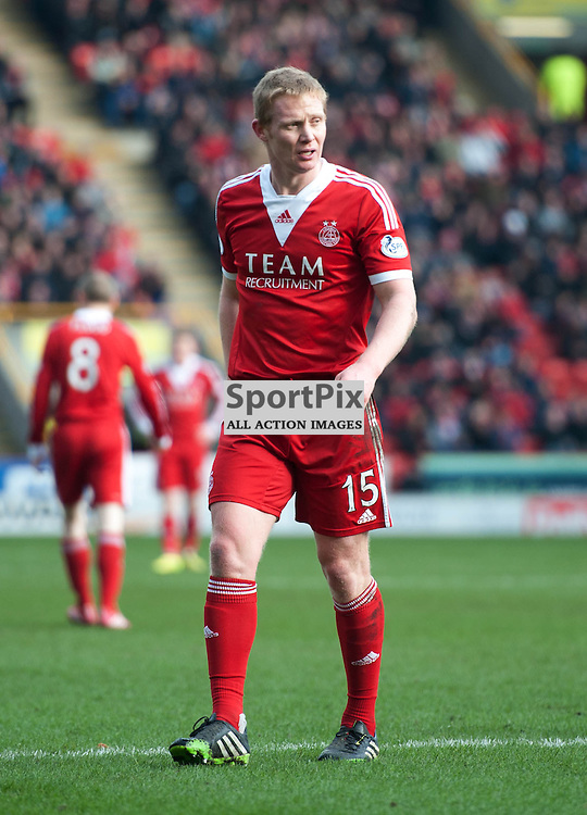 Aberdeen's Barry Robson. Aberdeen v Dumbarton, William Hill Scottish Cup Quarter Final, Pittodrie Stadium, Saturday 08 March 2014 (c) ANGIE ISAC | SportPix.eu