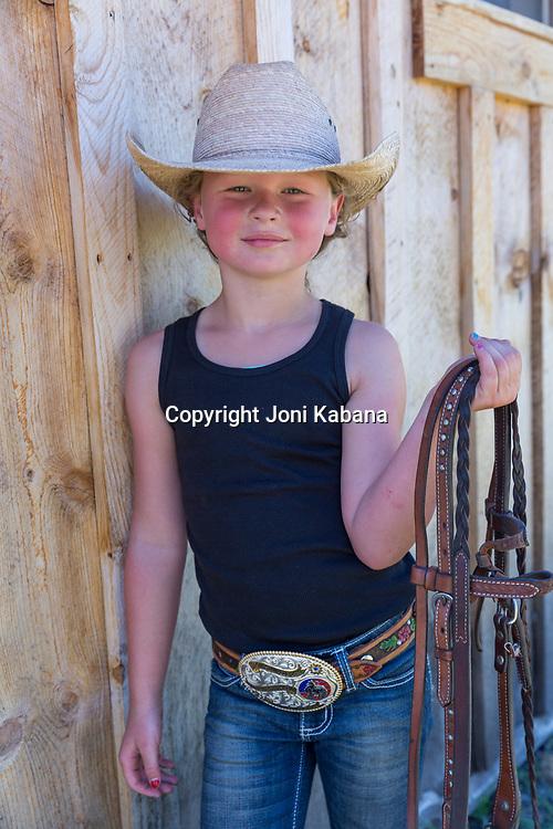 Children's Rodeo practice in Elgin, Oregon