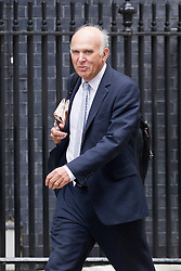 © Licensed to London News Pictures. 10/09/2013. London, UK. Vince Cable, Secretary of State for Business, Innovation, is seen on Downing Street in London today (10/09/2013) for a meeting of the British Government's cabinet. Photo credit: Matt Cetti-Roberts/LNP